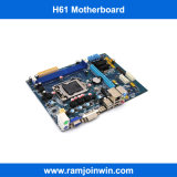サポートDDR3 1333 1066枚の800枚のメモリによってテストされるH61 ITX小型ケースのマザーボード