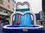 広州Lilytoys PVC Tarpulin工場価格は膨脹可能な警備員の城水スライドをからかう