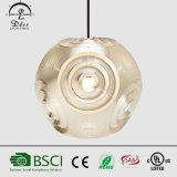 Lampada Pendant chiara decorativa dell'acciaio inossidabile di figura creativa moderna della sfera