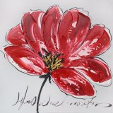Pintura al óleo floral hecha a mano para la decoración casera