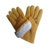 Kuh-aufgeteiltes Leder-Fahrer-Handschuh