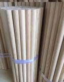 Деревянная ручка веника покрынная покрашенным PVA