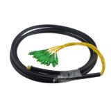 Il connettore 4 dello Sc estrae la parte centrale dalla treccia impermeabile ottica Patchcord della fibra di 8 memorie di memorie 12