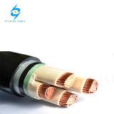 Baixo cabo subterrâneo blindado isolado XLPE de cobre do condutor da tensão mm2