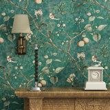 Hoja de cuero sintetizada del suelo, papel de empapelar del PVC, PVC Wallcovering, decoración de la pared, tela de la pared del PVC, papel pintado del PVC
