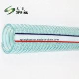 De plástico de PVC Preto Arame de aço reforçado Hidráulica de água do tubo de borracha do tubo de descarga industrial