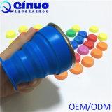 Copos dobráveis do copo do silicone do recipiente da água/curso