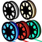 Luz de Fita Flexível LED AC 220V 5050 RGB LED SMD LED tubo flexível de néon 60IP68 LED corda à prova de lâmpada de String