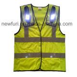 La maglia 10 LED illumina in su la maglia riflettente per la polizia