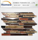 De estilo clásico, el precio bajo de Gaza Mosaico de vidrio marrón para la decoración del hogar