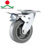 Industrielle TPR Fußrolle, 5 Zoll-Schwenker-Fußrolle, Hochleistungsfußrollen-Räder