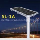 15W 160lm/W todo em uma luz de rua solar Integrated do diodo emissor de luz da bateria de lítio IP66