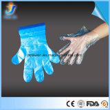 Soem-Polyäthylen materielles Headcard PET blaue Wegwerfhandschuhe