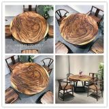 Журнальный стол твердой древесины, обедая таблица, стулы