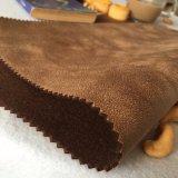 Tessuto del cuoio della pelle scamosciata del poliestere 100 per il sofà