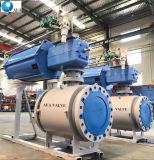 造られた鋼鉄モーターによって作動させる金属によってつけられているトラニオンによって取付けられる球弁