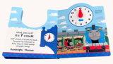 Libro de cuentos de niños de dibujos animados con reloj