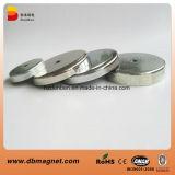 Сильный бак магнита неодимия металла с резьбой M5