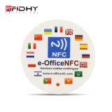 로고에 의하여 인쇄되는 RFID 13.56MHz Hf Ntag215 NFC 꼬리표