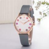 Reloj de la señora manera de la correa de cuero del ODM del reloj (Wy-124E)