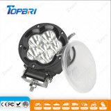 Lámpara negra brillante estupenda del trabajo agrícola del redondo LED de 5inch 45W