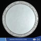 Dekorativer silberner Spiegel für Wand/Badezimmer/Wohnzimmer