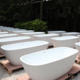 Bañera de piedra blanca de lujo del masaje de la resina libre (BT170816)