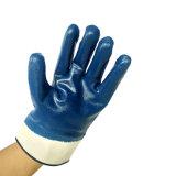 тумака безопасности подкладки 120g перчатки нитрила безопасности двойного Coated Джерси работая Coated