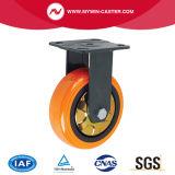 Platten-Schwenker-Bremse PU-Rad-Hochleistungsfußrolle