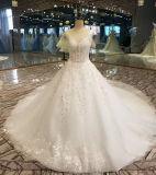 最もよい品質の物質的なテュルのレースのウェディングドレス