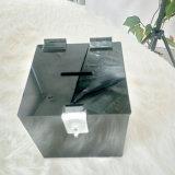 Indicador acrílico da caixa da caixa da doação das vendas por atacado