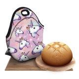 3Dユニコーンのデザートのコーヒーオフィスの袋の熱絶縁されたネオプレンの昼食袋の女性の子供のLunchbagsのクーラーの絶縁体のお弁当箱