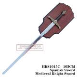 As espadas medievais da decoração das espadas da espada do lobo 105cm HK81015c