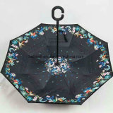 관례에 의하여 인쇄되는 반전 거꾸로 한 비 우산 고품질