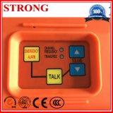 Système de communication d'intercom pour l'élévateur de construction