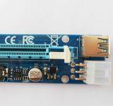Los PCI-E más nuevos 1X a la tarjeta 008c PCI-E de la canalización vertical 16X extienden el cable