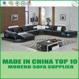 Großhandelsu-Entwurfs-Form-Wohnzimmer-Möbel-Leder-Sofa-Set