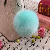 Fuzzy Fake Fox Ball Trousseau grand POM Poms fausse fourrure