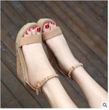 Оптовая торговля открытым носком велюр очистки водонепроницаемый платформа с сандалии