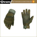 Colore di riciclaggio del Tan dei guanti della Metà-Barretta di Airsoft di guida militare tattica di caccia