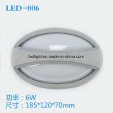 lámpara de aluminio del tabique hermético de 8W LED