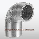 Duto flexível de alumínio ventilada e de Exhuasting de ar