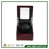 Embalagem de luxo personalizado vermelho Caixa de relógio de madeira