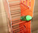 슈퍼마켓 디자인 비발한 금속 스레드 주스 청량 음료 소다 진열대
