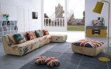 Sofá moderno do canto da sala de visitas da tela (F869)