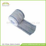 Atadura de crepe elástica de algodão de primeiros socorros médico