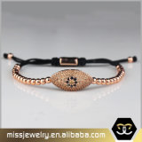 2017 o cabo entrançado de aço inoxidável luxuoso das mulheres 316L perla o bracelete