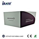 Fabrik-Preis LCD-videobroschüre mit Tasche