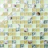 Kristallglas-Mischungs-keramische Mosaik-Seeshell-Entwurfbrown-Farbe