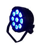 Rasha 옥외 방수 LED 건전지 동위 빛 9PCS 18W Rgbaw UV DMX 단계 빛